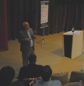 Luiz Tadeu Navarro (STAR ONE) mostrou as novas aplicações de satélites para o setor