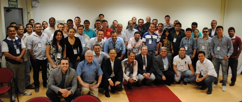Várias dezenas de profissionais compareceram ao SET Norte 2014 que se realiza em Manaus, capital do Estado do Amazonas