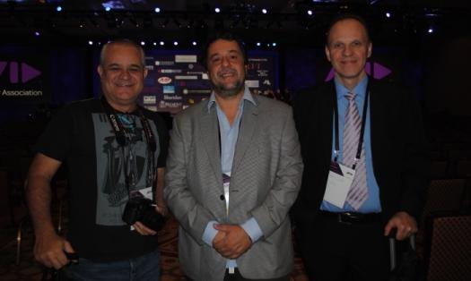 Francisco Machado Filho, Fernando Moura e Paulo Galante em Las Vegas