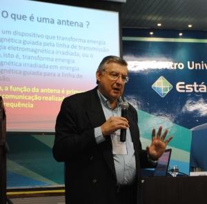 José Elias, consultor comercial da IF Telecom explicou o funcionamentos das antenas no SET Nordeste 2015