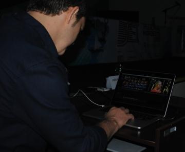 João Paulo Quérette (Imaginaria/Alfred) explicando aos presentes no SET Nordeste 2015 como funciona o Final Cut Pro