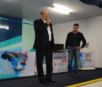 """Lucas Texeira e Emerson Pedro, da Screen do Brasil, que analisaram a """"Distribuição do sinal Digital, SFN e transmissores de alta eficiência""""."""